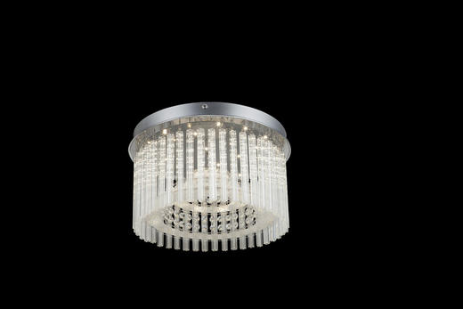 LED-DECKENLEUCHTE - MODERN, Glas/Kunststoff (37/23cm)