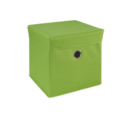 BOX NA HRAČKY - zelená, Trend, dřevo/textilie (32/32/32cm) - My Baby Lou