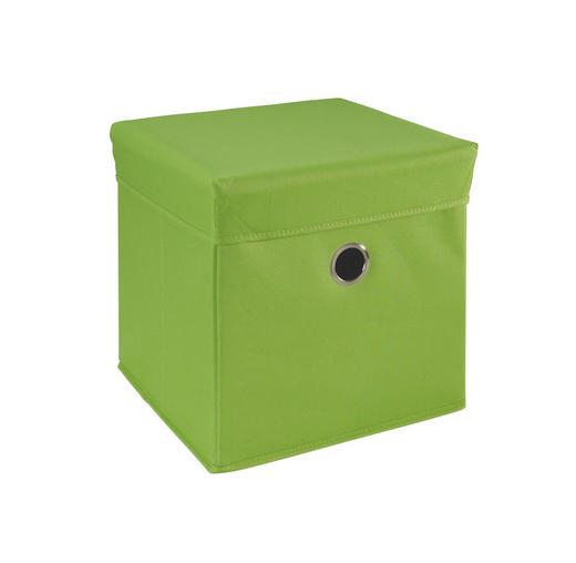 LEKSAKSLÅDA - grön, Trend, trä/textil (32/32/32cm) - MY BABY LOU