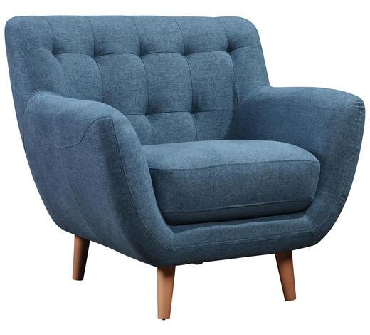 KŘESLO, textil, tyrkysová - přírodní barvy/tyrkysová, Design, dřevo/textil (90/84/84cm) - Carryhome