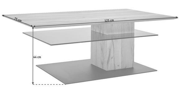 COUCHTISCH in Glas, Holz 125/75/44 cm - Anthrazit/Buchefarben, Design, Glas/Holz (125/75/44cm) - Valnatura