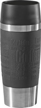 COFFEE-TO-GO-BECHER 0,36 l - Schwarz, KONVENTIONELL, Kunststoff/Metall (0.36l) - EMSA