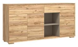 SIDEBOARD melaminharzbeschichtet Eichefarben - Eichefarben, Design, Holz/Holzwerkstoff (187/91/41cm) - Linea Natura