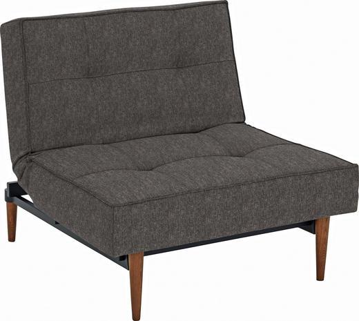 SESSEL Braun - Ulmefarben/Dunkelbraun, Design, Holz/Textil (90/79/115cm) - Innovation