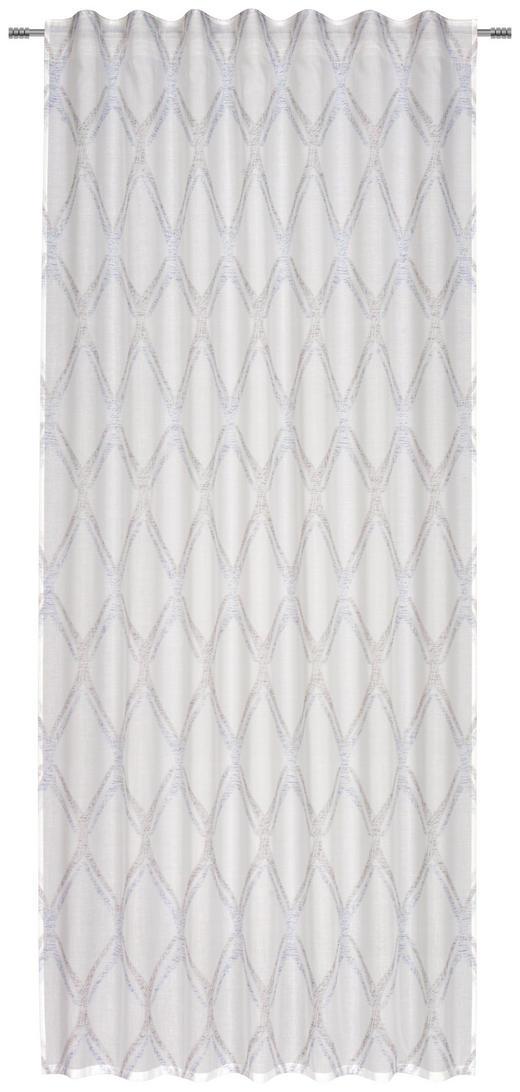 FERTIGVORHANG  transparent  140/245 cm - Blau/Weiß, KONVENTIONELL, Textil (140/245cm) - Esposa