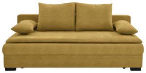 SCHLAFSOFA in Textil Gelb  - Gelb/Schwarz, KONVENTIONELL, Kunststoff/Textil (207/74-94/90cm) - Venda