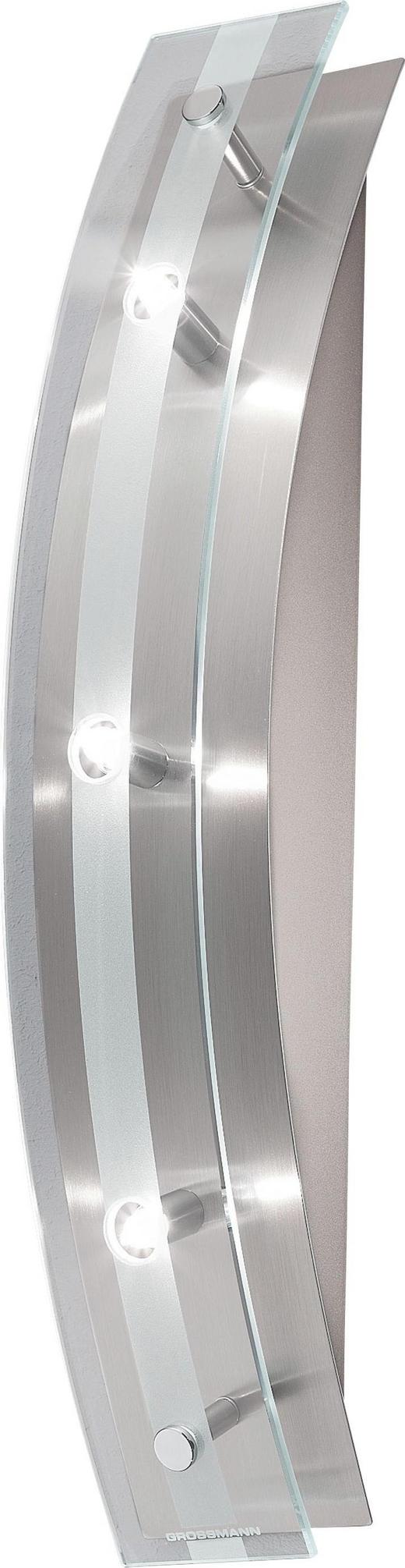 WANDLEUCHTE - Klar/Nickelfarben, KONVENTIONELL, Glas/Metall (40/7/9cm)