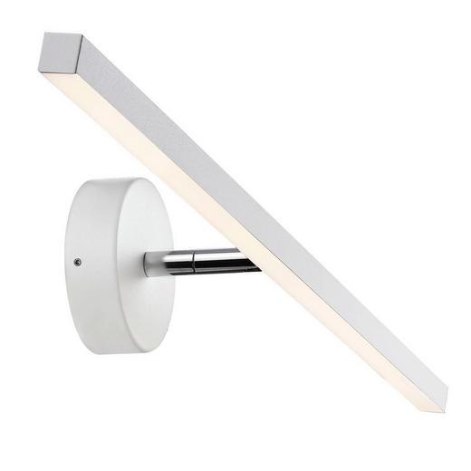 WANDLEUCHTE - Weiß, Design, Kunststoff/Metall (60/11cm)