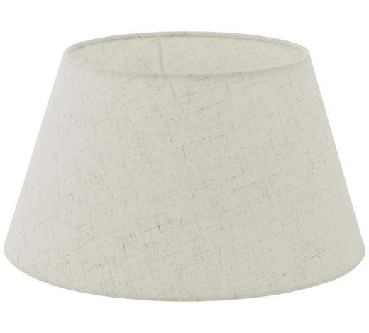 LEUCHTENSCHIRM  Creme, Weiß  Textil  E27 - Creme/Weiß, Design, Textil (30/16,5cm) - Marama