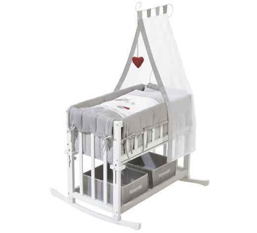 STUBENWAGENSET Adam & Eule - Weiß/Grau, Basics, Holzwerkstoff/Textil (90/48/77/145cm) - Roba
