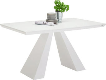ESSTISCH in Weiß - Weiß, Design, Glas/Holzwerkstoff (140/90/76cm) - XORA