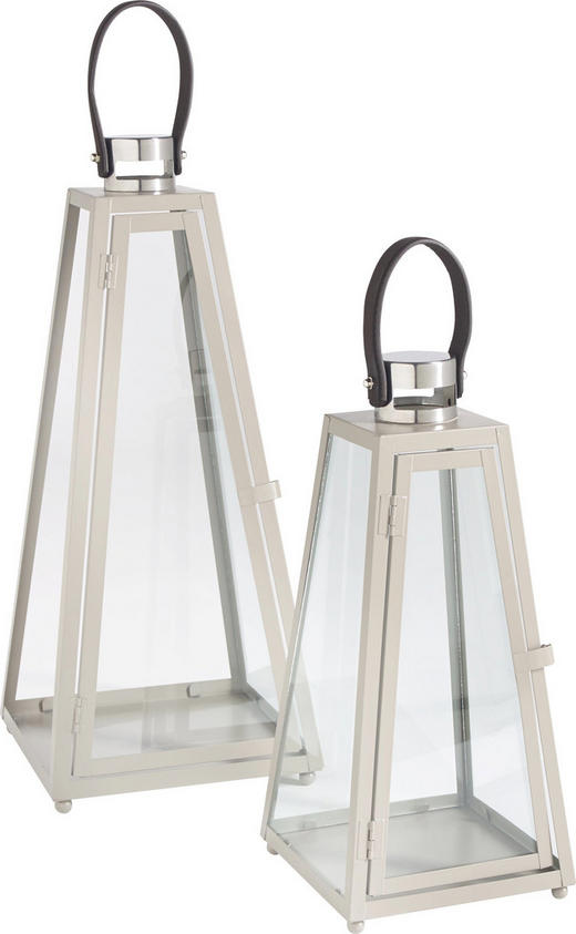 LATERNENSET - Taupe, LIFESTYLE, Glas/Metall - Ambia Home