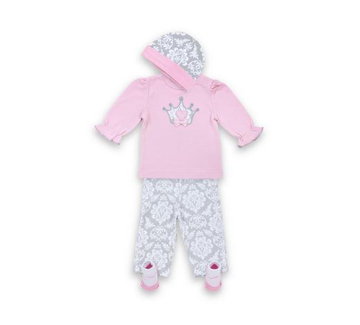 BABYBEKLEIDUNGSSET - Pink/Grau, Basics, Textil - My Baby Lou