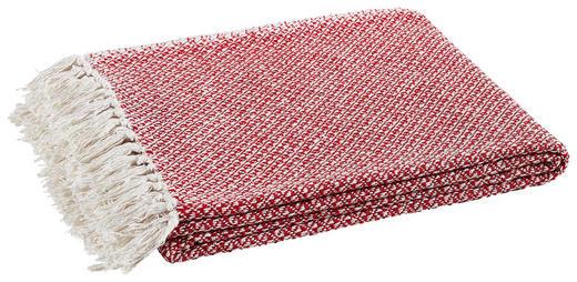 PLAID 150/180 cm Naturfarben, Rot - Rot/Naturfarben, Basics, Textil (150/180cm)
