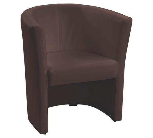 KŘESLO, textil, hnědá - černá/hnědá, Design, textil/umělá hmota (54/72/63cm) - Carryhome