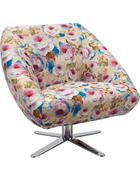 FOTELJ,  večbarvno tekstil - krom/večbarvno, Design, kovina/tekstil (88/82/81cm) - Landscape