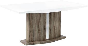 JÍDELNÍ STŮL, bílá, hnědá - bílá/hnědá, Design, dřevěný materiál (160/90/74cm)