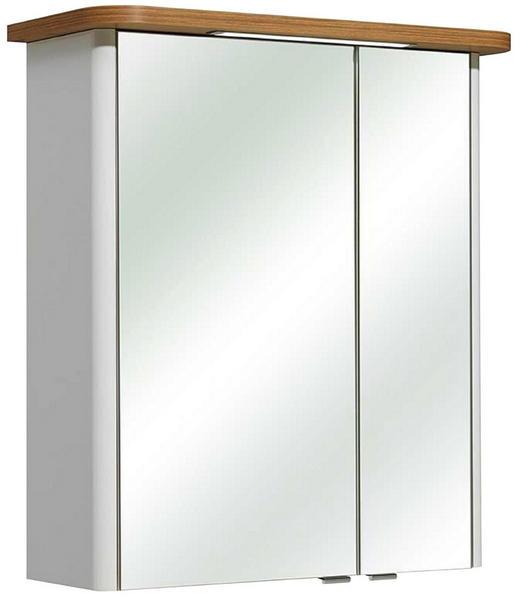 SPIEGELSCHRANK Weiß - Chromfarben/Weiß, MODERN, Glas/Holzwerkstoff (65/72/20cm) - Xora