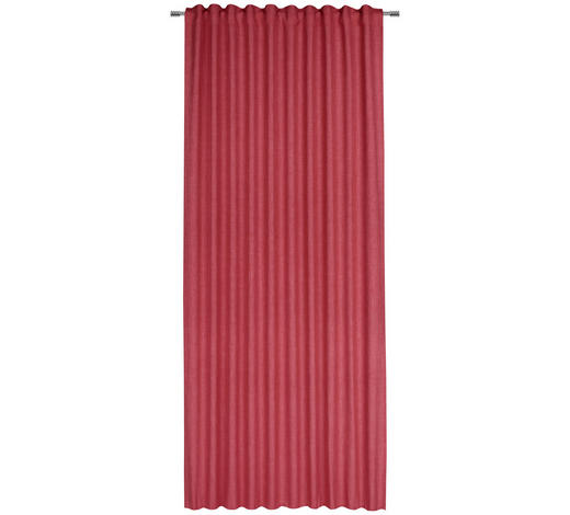 FERTIGVORHANG halbtransparent - Rot, Basics, Textil (140/245cm) - Esposa