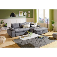 SEDACÍ SOUPRAVA, šedá, textil - šedá/barvy chromu, Design, textil/umělá hmota (294/173cm) - Carryhome