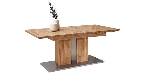 ESSTISCH in Holz, Holzwerkstoff 180(230)/100/76 cm   - Eichefarben/Silberfarben, KONVENTIONELL, Holz/Holzwerkstoff (180(230)/100/76cm) - Cantus