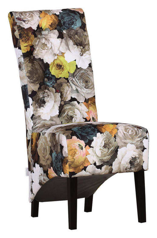 STUHL Mikrofaser Multicolor - Dunkelbraun/Multicolor, Trend, Holz/Textil (50/109/71cm) - Ambia Home