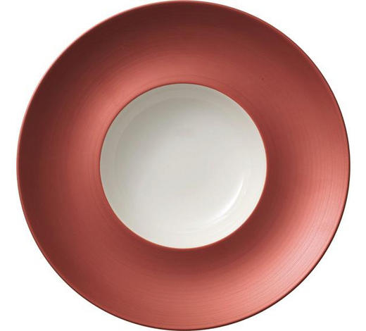 SUPPENTELLER 29 cm - Orange/Weiß, LIFESTYLE, Keramik (29cm) - Villeroy & Boch