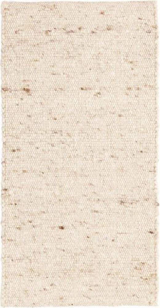 HANDWEBTEPPICH - Creme, Natur, Textil (90/160cm) - Linea Natura