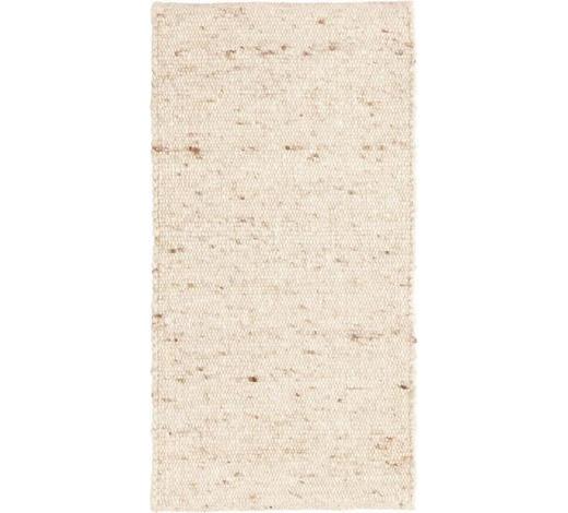 KOBEREC RUČNĚ TKANÝ, 90/160 cm, krémová - krémová, Natur, textil (90/160cm) - Linea Natura
