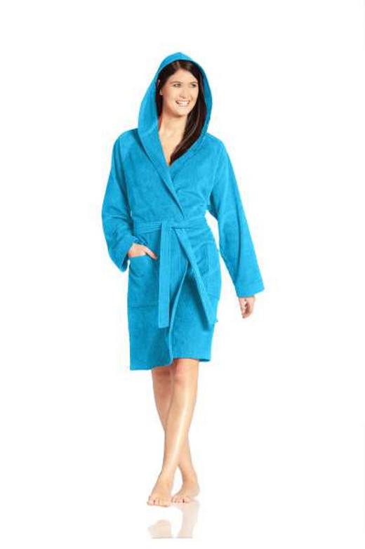 BADEMANTEL  Türkis - Türkis, Basics, Textil (XL) - VOSSEN