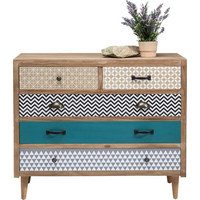 KOMMODE Kiefer, Paulownia massiv, Schichtholz Multicolor - Multicolor, Design, Holz (80/90/40cm) - Kare-Design
