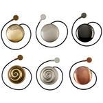 Raffhalter Elsa - Silberfarben/Bronzefarben, KONVENTIONELL, Metall (5/5cm) - Ombra
