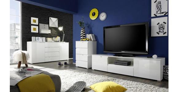 LOWBOARD 165/42/40 cm  - Silberfarben/Weiß, Design, Holzwerkstoff/Kunststoff (165/42/40cm) - Carryhome