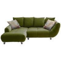 SEDACÍ SOUPRAVA, zelená, textil - zelená/barvy chromu, Design, textil (182/247cm) - Hom`in