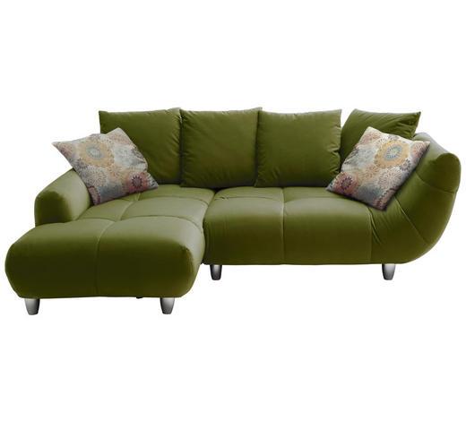 SOUPRAVA NA SEZENÍ, zelená, textil - zelená/barvy chromu, Design, textil (182/247cm) - Hom`in