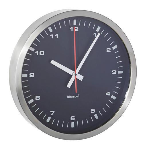 WANDUHR  Schwarz 30 cm - Schwarz, Basics, Glas/Kunststoff (30cm) - Blomus