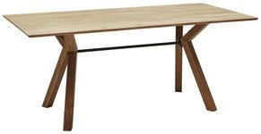 ESSTISCH Eiche vollmassiv Eichefarben  - Eichefarben, Design, Holz/Metall (180/90/75cm) - Dieter Knoll