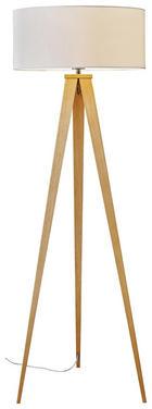 LAMPA STOJACÍ - barvy dubu, Lifestyle, kov/dřevo (50/136cm) - NOVEL