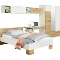 POKOJ PRO MLÁDEŽ - bílá/barvy dubu, Konvenční, dřevěný materiál/sklo (120/200cm) - Xora