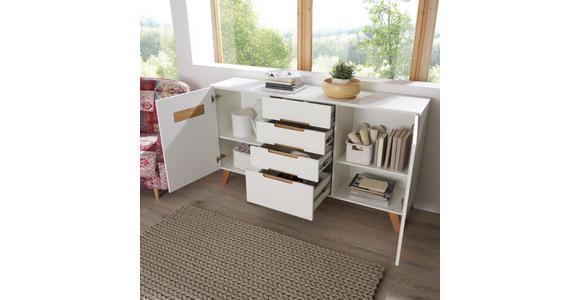 SIDEBOARD 168,5/93,5/41 cm - Eichefarben/Weiß, Design, Holz/Holzwerkstoff (168,5/93,5/41cm) - Hom`in