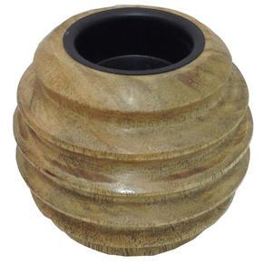 VÄRMELJUSHÅLLARE - brun, Lifestyle, trä (8,5/8,5cm) - Ambia Home