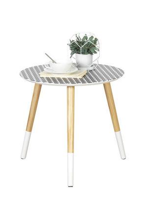 AVLASTNINGSBORD - vit/svart, Design, trä (48/45cm) - Carryhome