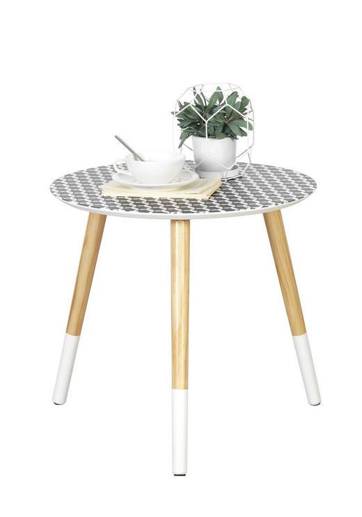 POMOĆNI STOLIĆ - bijela/prirodne boje, Design, drvo (48/45cm) - Carryhome