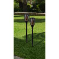 Solarleuchte  2er Set - Schwarz, LIFESTYLE, Kunststoff (10/10/58cm) - Ambia Garden