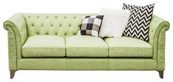 TROSJED SOFA - svijetlo zelena/boje srebra, Design, tekstil/metal (220/79/86cm) - HOM`IN