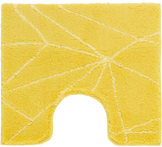 WC-VORLEGER - Gelb, Design, Kunststoff/Textil (55/50cm) - Kleine Wolke