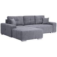 WOHNLANDSCHAFT - Silberfarben/Grau, MODERN, Kunststoff/Textil (194/280cm) - Carryhome