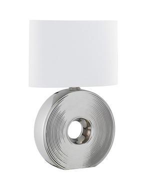 BORDSLAMPA - vit/silver, Klassisk, metall/textil (54cm)