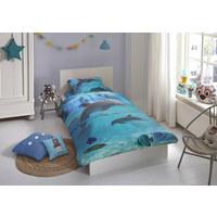 KINDERBETTWÄSCHE Renforcé Blau 135/200 cm - Blau, Basics, Textil (135/200cm)