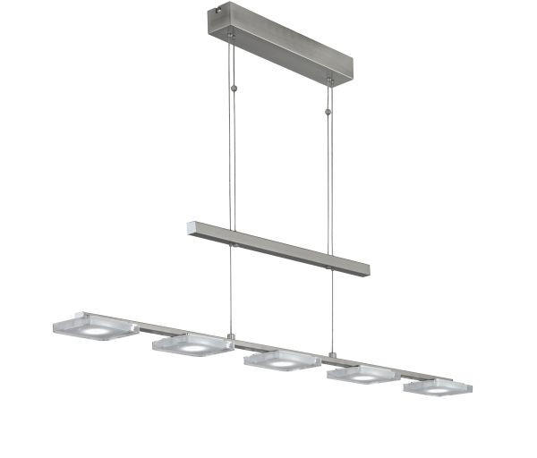 VISEČA LED-SVETILKA - barve niklja, Design, kovina (100/120cm)